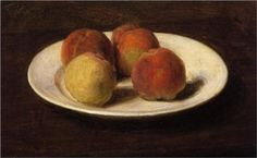 Still Life of Four Peaches - Henri Fantin-Latour