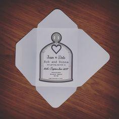 Save the date cards and envelopes with ribbon detail (not shown!).#jld #new #savethedate #weddings #weddingday #weddingdecor #weddinginspiration #instagram #cool #grey #ivory #etsy #etsygifts #etsyshop #etsyseller