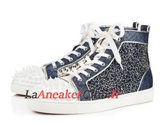 214580e3fcae6 Christian Louboutin No Limit 018 Vernis Rete Net Lame Lux Chaussures de BasketBall  Pas