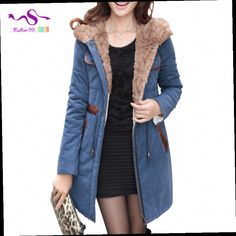 48.99$  Buy here - http://alijse.worldwells.pw/go.php?t=2055788632 - FREE SHIPPING 2016 new women's winter coat thick cotton Slim fashion Large size Long sections Casual cotton hooded women YT19 48.99$