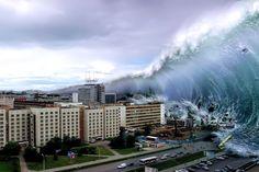 Russlands-Super-Atomwaffe könnte noch verheerender sein, wenn sie weit vor der Küste gezündet wird und einen gigantischen Tsunami auslöst...
