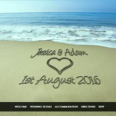 Write you and your fiance's names in the sand with our beautiful 'Beach Theme' Website. Ideal if you are having your wedding in a idyllic resort! Click our website link in our bio to create your Wedding Website today. Website Link, Wedding Website, Beach Themes, Beautiful Beaches, Unique Weddings, Big Day, Rsvp, Create Yourself, Names