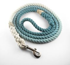 Rope Dog Leash - Cotton - Ombre Blue Green