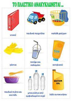 dreamskindergarten Το νηπιαγωγείο που ονειρεύομαι !: Η ανακύκλωση στο νηπιαγωγείο Recycling, English, Education, Games, Baby, Ideas, School, Gaming, English Language