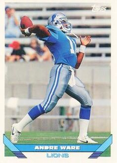 1993 Topps #656 Andre Ware - Detroit Lions.