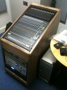 Custom rack, finished in real Walnut Wood Veneer. #recordingstudiofurniture www.studioracks.co.uk