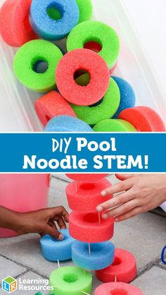 Looking for ways to liven up your weekly summer routine? Check out this DIY Pool Noodle STEM activity!