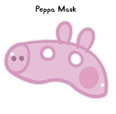 free Peppa Pig Mask to print Printable Halloween Masks, Homemade Halloween Costumes, Printable Masks, Peppa Pig Mask, Cumple George Pig, Cumple Peppa Pig, Mascaras Halloween, Pig Costumes, Pig Birthday