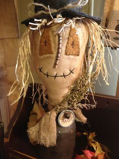 Primitive Jack Scare Crow Make Do on a by KelsCountryBlessings, $14.95