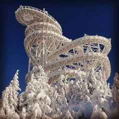"""""""Stezka V Oblacích"""" (Trail in the Sky) na Dolní Moravě - vstupenka cca 500EUR (2 dospeli + 2 deti - bez tobogánu), 700m dlhá, 1,100m (nad hladinou mora),"""