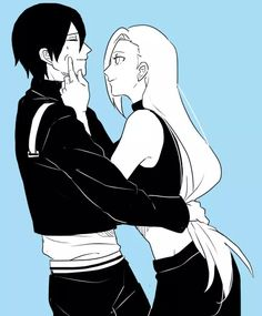 Sai looks like he doesn't mind Ino forcing a smile on him #naruto