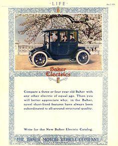 Milburn Electric Car Vintage Advert Poster Car