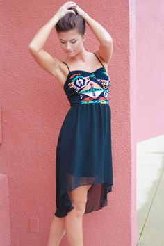 Neon Navajo High-Low Dress. #uoionline