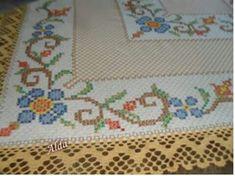 "Resultado de imagem para ""toalha bordada xadrez lilas """