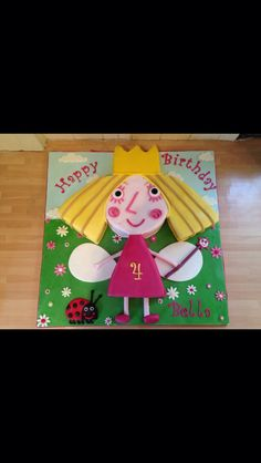 Princess Holly cake  From Ben and Holly