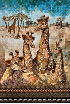 Wow! Jigsaw Giants art quilt by Cassandra Williams