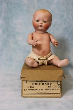 """7 1/2"""" all bisque Tinie Baby by Horsmann"""