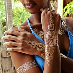 Flash Tattoos - Sheebani Temporary metallic tattos