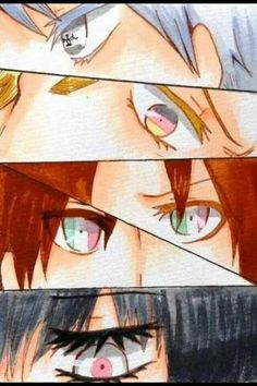 Hetalia eyes. Prussia, Germany, Italy brothers, and Japan