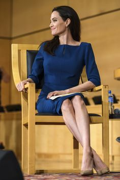 Angelina Jolie Photos Photos - US actress and United Nations High Commissioner for Refugees (UNHCR) special envoy Angelina Jolie attends the annual lecture of the Sergio Vieira de Mello Foundation at the United Nations (UN) office in Geneva on March 15, 2017. / AFP PHOTO / Fabrice COFFRINI - UNHCR Special Envoy Angelina Jolie Speaks at the Annual Lecture of the Sergio Vieira De Mello Foundation