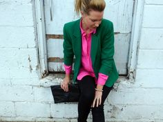 Loving the hot pink and green!