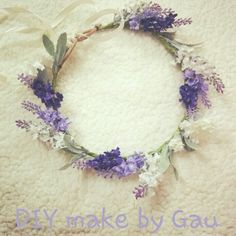 lavender flowers in hair - Crown for Chelsea. with lavender and olive leaves/or rosemary leaves. Lavender Flowers, Bridal Flowers, Flowers In Hair, Silk Flowers, Purple Flowers, Lavender Flower Girl Dress, Lavender Hair, Lavender Blue, Flower Crown Bride