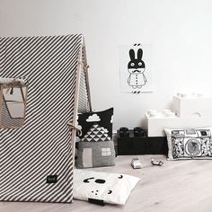 tent - Ferm Living - zwart wit - black and white - Lego