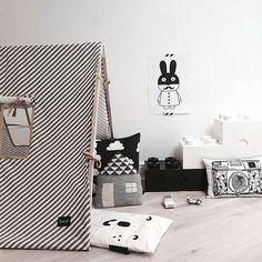 tent - Ferm Living - zwart wit - black and white - Lego