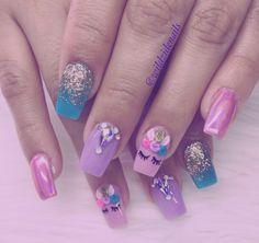 Nail art, different nail designs, really cute nails, pretty nails, simple n Really Cute Nails, Pretty Nails, Coffin Nails, Acrylic Nails, Different Nail Designs, Unicorn Nails, Trendy Nail Art, Nail Inspo, Nail Arts