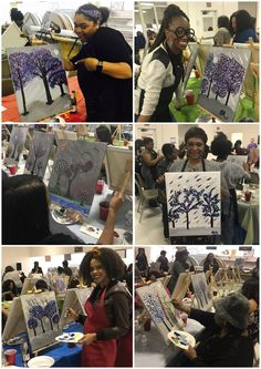 The CCC Ladies joined Women Who Care for a Paint Party Friday night at 7pm. They enjoyed fellowship, light refreshments and finished with their own unique work of art! #cccpaintparty