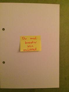 DIY - Wenn-Buch ... Wenn du mal kreativ sein möchtest