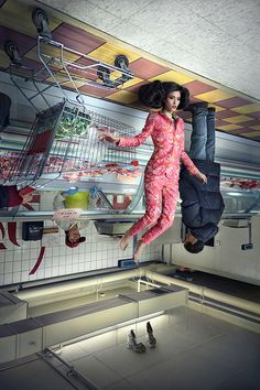 Quirky Fashion Series Features Upside-Down Models - Feature Shoot BY photographer Martin Tremblay For  Schön! Magazine