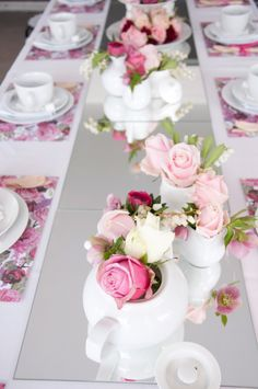 Love the idea of pink, white and blush roses... Just gotta find a way to pull some manliness into the decor.