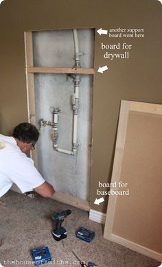 Hide your water shut off valve! The House of Smiths - Home DIY Blog - Interior Decorating Blog - Decorating on a Budget Blog