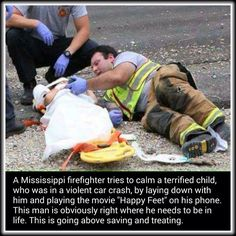 Firefighters are truly amazing to me.This just adds to my appreciation of the them. Firefighters, Firemen, Amazing People Quotes, Amazing People Stories, Beautiful Stories, Beautiful Moments, Beautiful Pictures, Real Hero, Real Life Heros