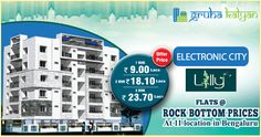 GruhaKalyan Lowest Price Challenge On Flats/Apartments at Electronic City, Bangalore Available 1, 2 & 3BHK.