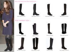 Kate Middleton Style Inspiration. RepliKates of Stuart Weitzman Half N Half boots