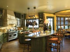 lots of room to work... - Kitchens in Color: Ideas for Brightening the Kitchen with Color on HGTV