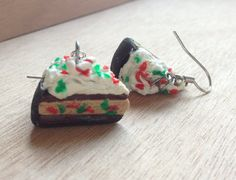 Polymer Clay Candy Cane Pie Earrings / Pendants / by GoodieStore, $5.49