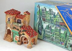 NIB J CARLTON BY GAULT HAND PAINTED FRENCH PROVENCE BOULANGERIE BUILDING