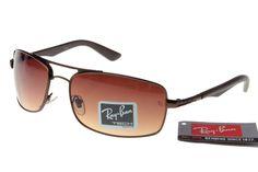 Ray-Ban Aviator Active Lifestyle 3460 Dark Brown Frame Tawny Lens RB1172  $14.70