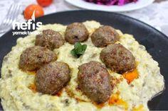 Beğendili Köfte Tarifi Meat Recipes, Cooking Recipes, Sausage, Pasta, Beef, Ethnic Recipes, Foods, Meat, Food Food