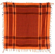 Keffiyeh Orange and Black Pattern Scarf by Sunshine Joy  Shemagh  Keffiyeh   Cheche Motif cd1e38131f1