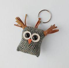 Hey, I found this really awesome Etsy listing at https://www.etsy.com/listing/491566944/owl-keyringkeyfobbag-charm-recycled