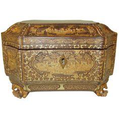circa 1850 Fine Chinese Export Tea Caddy