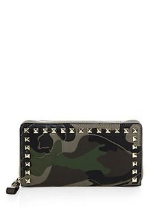 Valentino Studded Camo Continental Wallet- $695.00