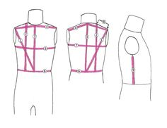 How to draft a childrens bodice block tutorial (front) - lots of GREAT step by step pictures for each and every line.