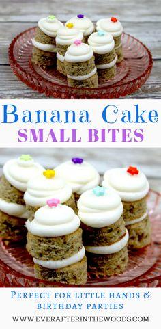 Easy Banana Bite Size Cakes