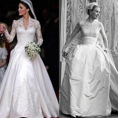 On my adventures researching wedding dresses for myself I came across Grace Kelly's wedding gown. Take a look at these photos I fo… Princess Grace Wedding Dress, Grace Kelly Wedding, Princess Dresses, Celebrity Wedding Dresses, Celebrity Weddings, Wedding Gowns, Bridal Gowns, Grace Kelly Dresses, Kate Middleton Wedding Dress