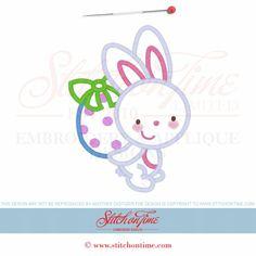 4 Easter Bunny (ZWD): Bunny Rabbit Applique 5x7